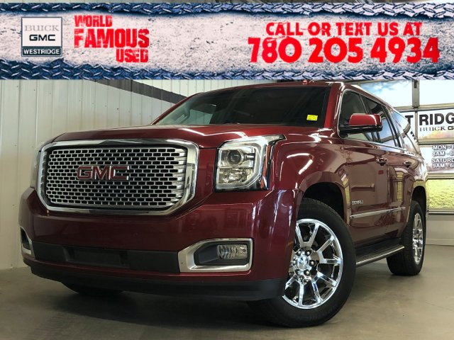Certified Pre-Owned 2017 GMC Yukon Denali. Text 780-205-4934 for more information!