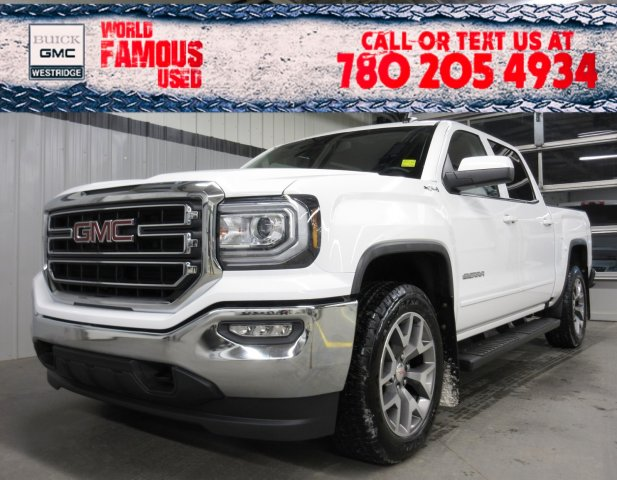 Certified Pre-Owned 2018 GMC Sierra 1500 SLE. Text 780-205-4934 for more information!